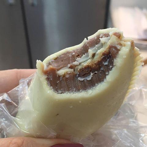 pastel recheado com nutella