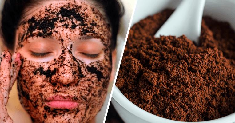 Esfoliante facial caseiro com café ws