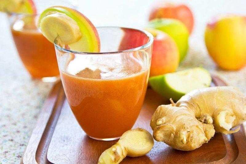 Benefícios do suco de cenoura com gengibre d