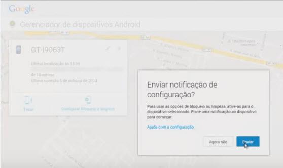 Como rastrear celular pelo google-passo6
