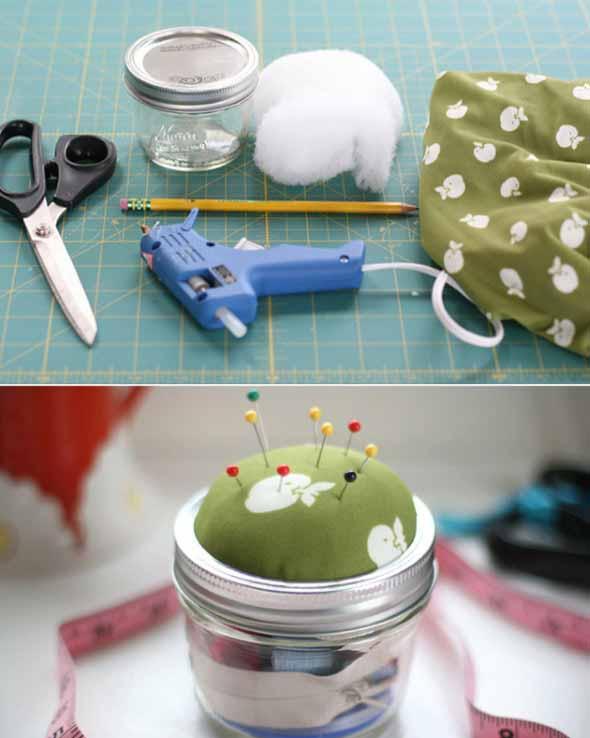 Ideias de artesanato com potes de vidro