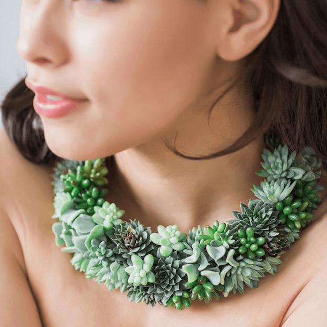 Belíssimas jóias feitas de plantas reais