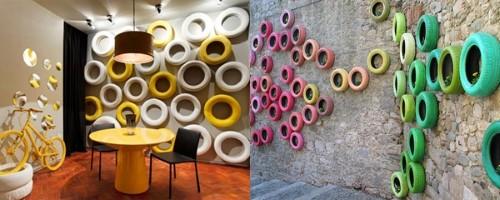 15 Artesanatos reciclados para enfeitar parede