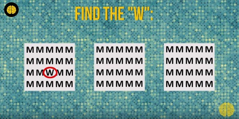 Teste o seu cérebro: você consegue encontrar as letras?
