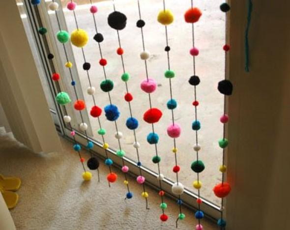 Como fazer Cortina artesanal de porta