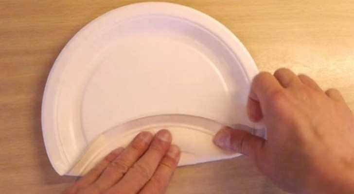 como transformar um prato de papel numa simples caixa - Como transformar um prato de papel numa simples caixa