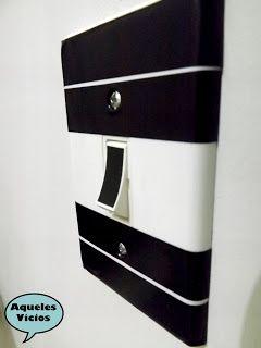 Como decorar paredes com fita isolante 4 interruptor