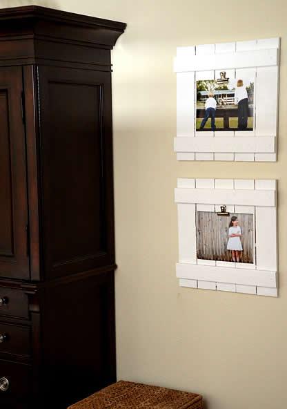 Porta retratos rústico de madeira