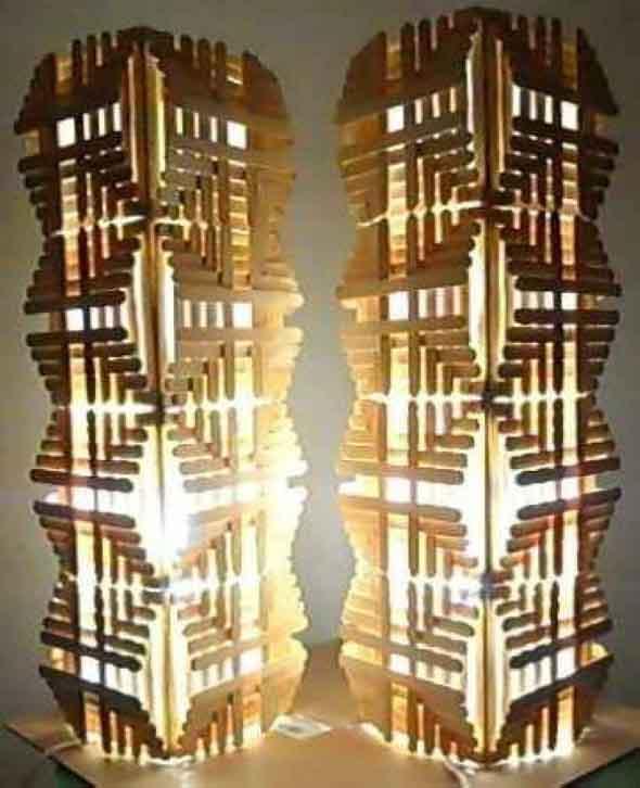 Como fazer uma luminária com palitos de picolé