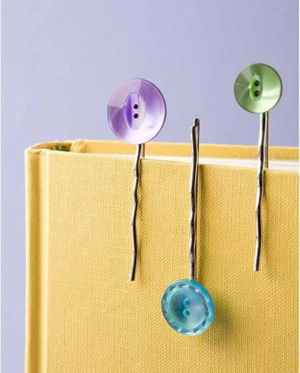Ideias artesanais com botões de roupas