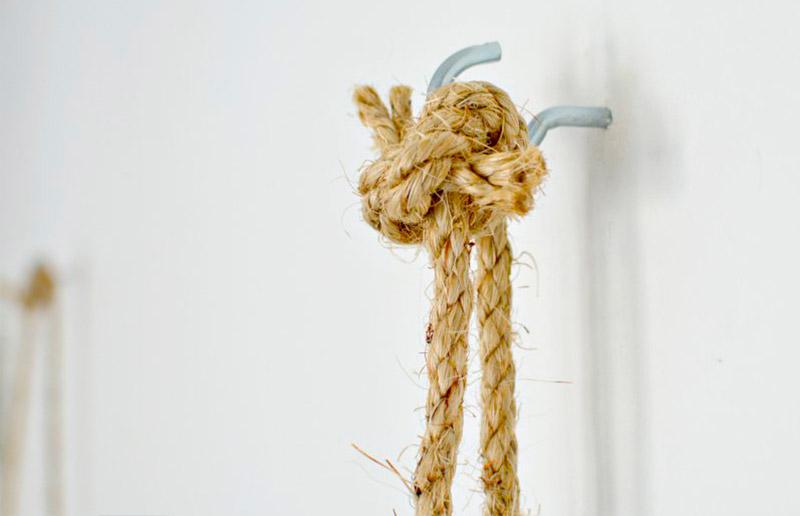 Como fazer prateleira de corda