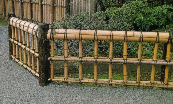 Ideias para criar bonitas cercas de bambu para o seu jardim
