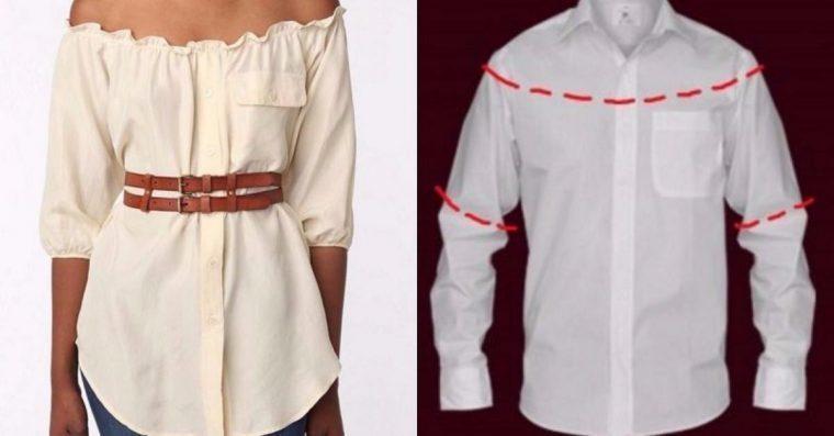10 maneiras de transformar camisas velhas em roupas novas