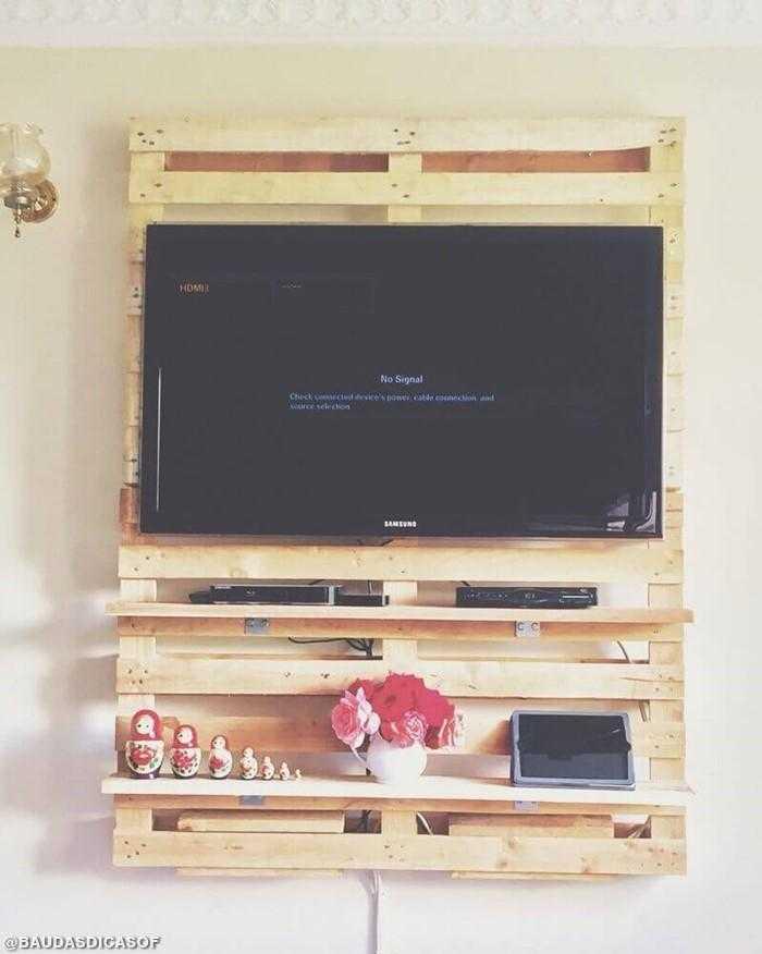19 Ideias de painéis de tv com paletes