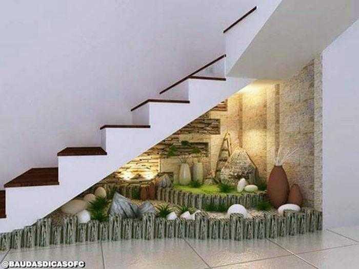12 Ideias para jardim embaixo das escadas