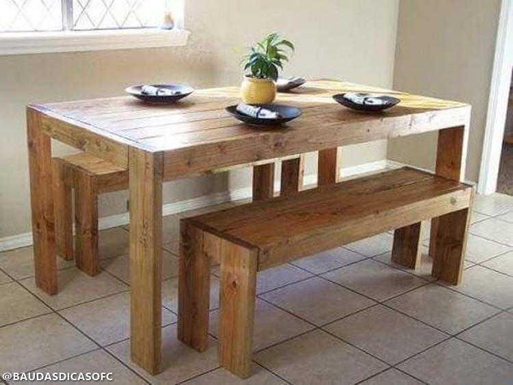 15 Ideias de mesas feitas com paletes para se inspirar