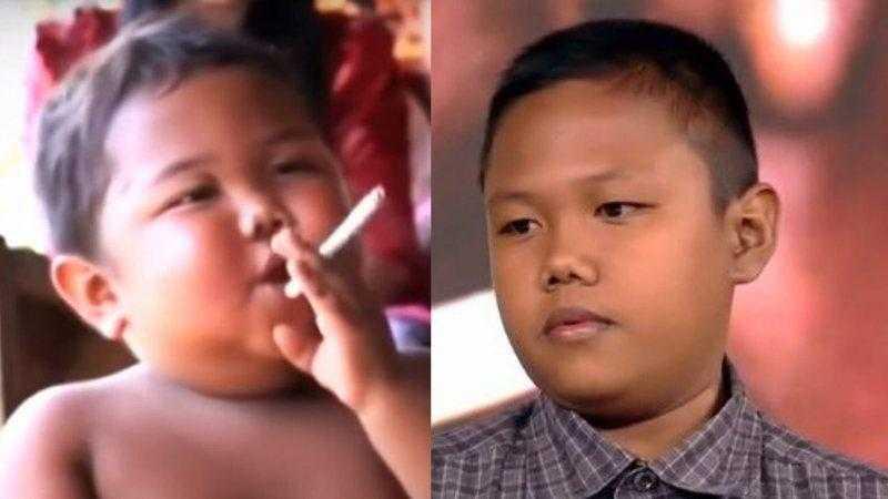 Lembra do bebê fumante? 13 anos depois, ele está irreconhecível