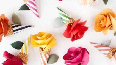 Como fazer cone com flor 4f