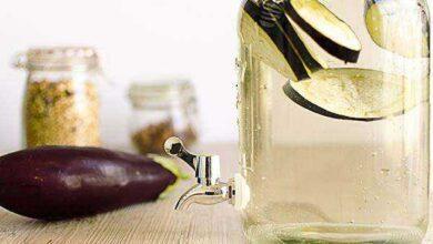 Água de berinjela com limão para emagrecer