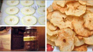 Foto de Chips de maçã e canela: Controla diabetes, colesterol e queima gorduras
