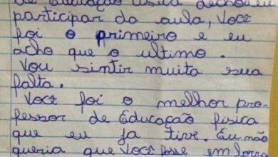 Professor emociona a internet toda ao divulgar carta que recebeu de aluna!