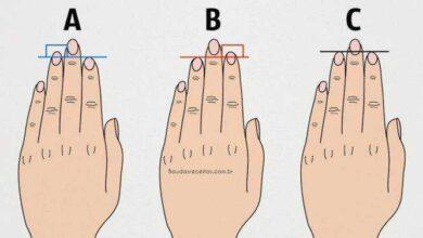 Veja o que seus dedos dizem sobre você