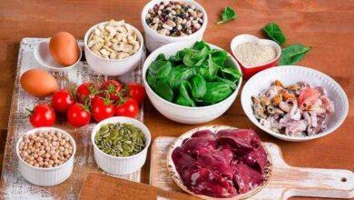 7 Alimentos ricos em ferro
