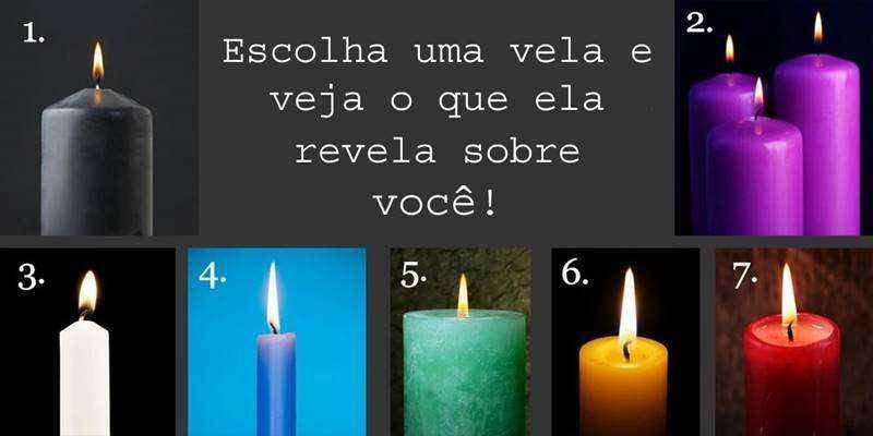 Deixe a sua intuição escolher uma vela e veja o que ela pode revelar sobre você