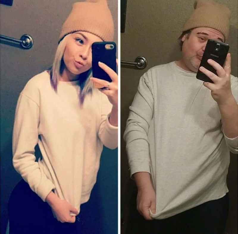 Pais recriam selfies da filha e fazem sucesso na net