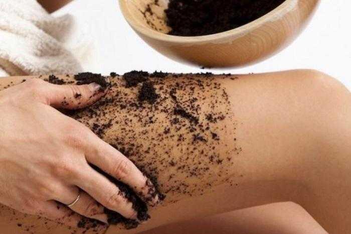 Extermine a celulite utilizando a borra do café