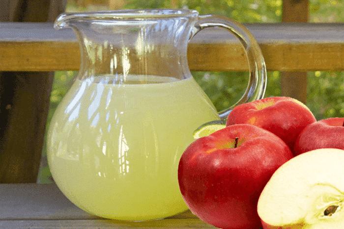 Limonada de maçã para quem sofre de diabetes