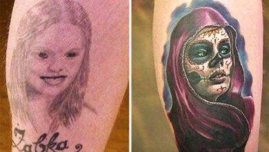 Foto de 7 tatuagens criativamente consertadas