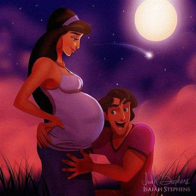 Como seriam as princesas da Disney se fossem mamães?