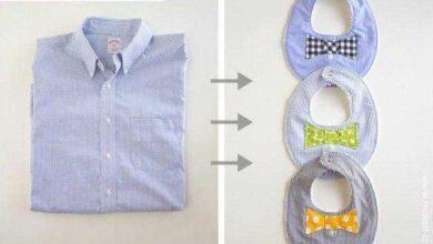 Maneiras super criativas de reciclar uma camisa masculina