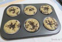 Foto de Muffin de banana com gotas de chocolate