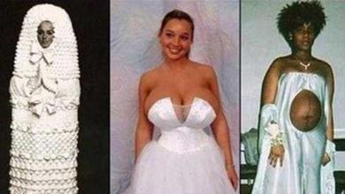 Photo of 14 Vestidos de noiva que nunca deveriam ter sido usados