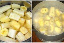 Foto de Chá de banana e canela