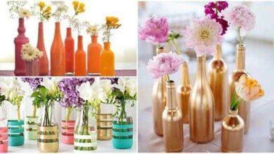 Foto de 12 ideias para decorar garrafas para mesas