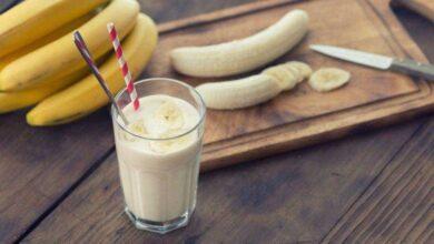 Bebida de banana para queimar gordura