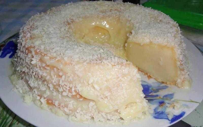 Receita de bolo com leite de coco