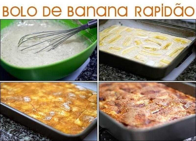 Como Fazer Bolo de Banana Rapidão