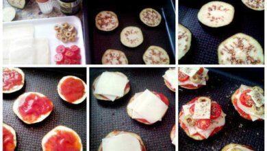 Como Fazer Mini Pizza de Berinjela