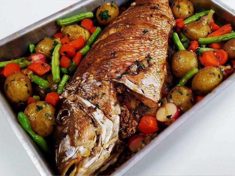 Peixe de Forno Recheado Delicioso