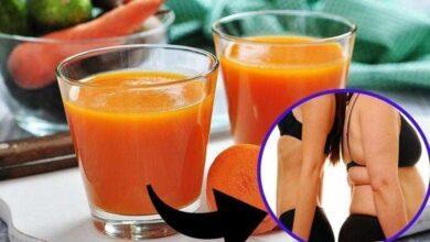 Foto de Suco detox de cenoura e limão para perder até 3 kgs em apenas 1 semana