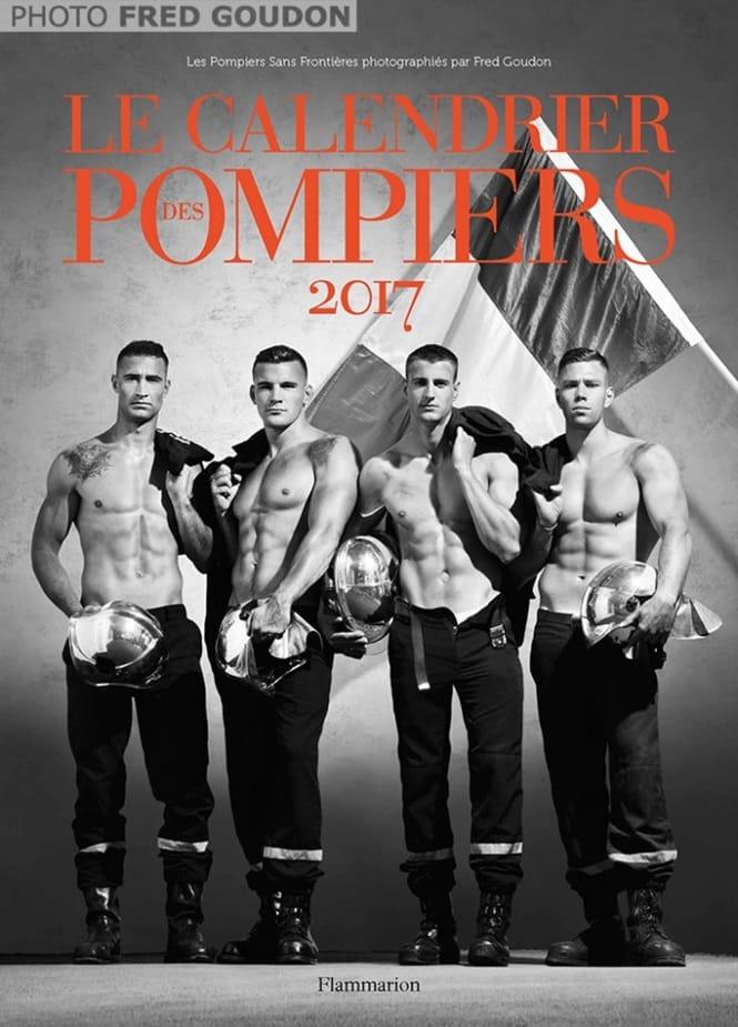 Bombeiros franceses lançam o calendário bem quente