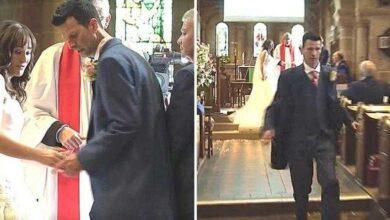 Foto de Os noivos estão no altar. De repente, o noivo se vira, corre para fora da igreja, e a deixa lá plantada.