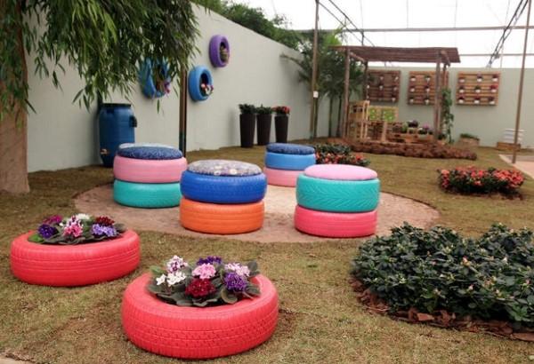decoracao-de-jardim-usando-reciclagem