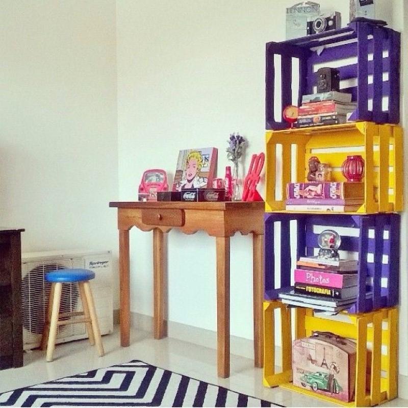 nichos reciclados para decoração de quarto infantil