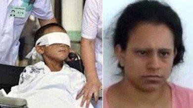 Foto de Menino de 5 anos tem olhos arrancados com colher pela mãe e outros familiares durante ritual satânico
