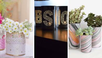 Foto de 70 ideias de latas decoradas para fazer em casa!